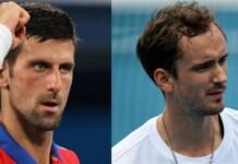 Novak Djokovic Daniil Medvedev