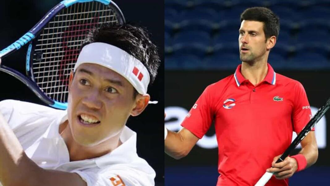 Kei Nishikori and Novak Djokovic