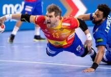 France vs Spain men's handball match