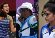 Deepika Kumari, PV Sindhu, Manu Bhaker