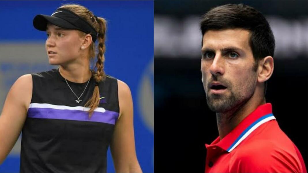 Elena Rybakina and Novak Djokovic