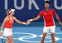 Novak Djokovic and Nina Stojanović