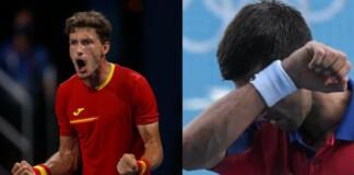 Pablo Carreno Busta and Novak Djokovic