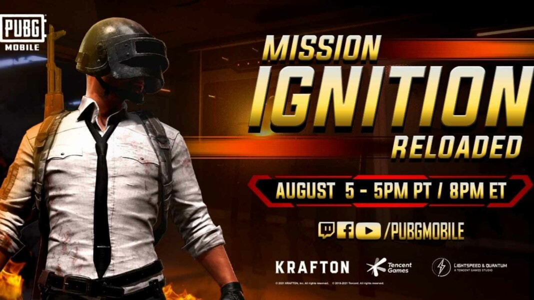 PUBG Mobile Mission Ignition set to comeback on 5th August, 2021 with Mission Ignition: Reloaded Live Event