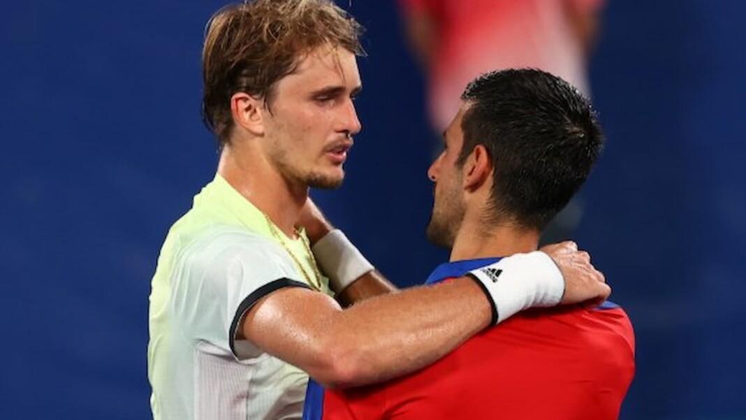 Alexander Zverev and Novak Djokovic
