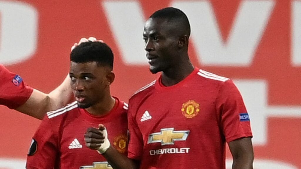 Amad Diallo and Bailly