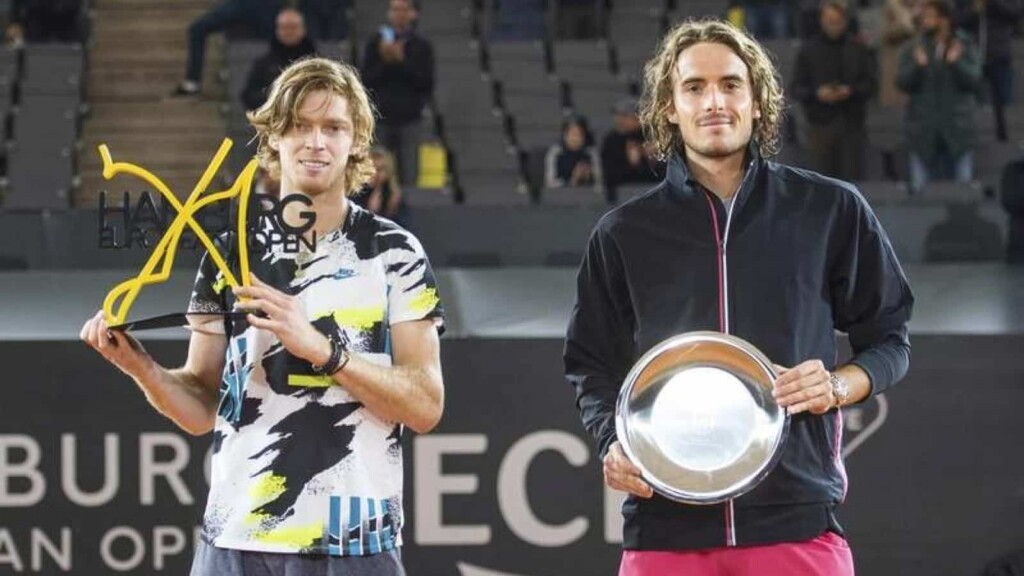 Andrey Rublev and Stefanos Tsitsipas