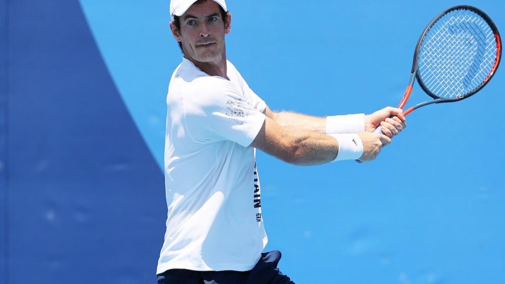Andy Murray in action at the 2020 Tokyo Olympics