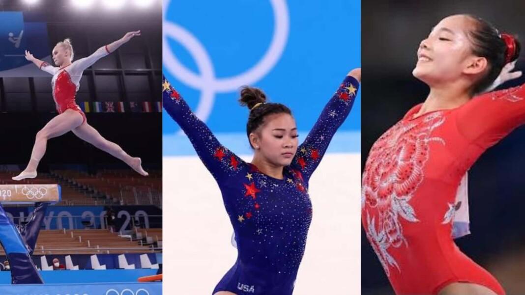 Artistic gymnastics at Tokyo Olympics, Angelina Melnikova, Suni Lee, Tang Xijing