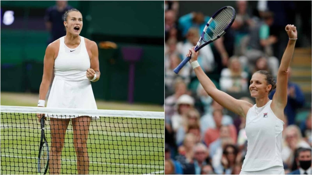 Aryna Sabalenka vs Karolina Pliskova will clash in the semi-finals of the Wimbledon 2021