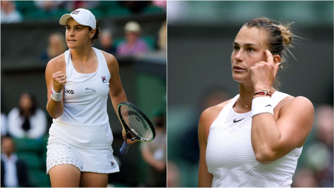 Ashleigh Barty and Aryna Sabalenka will clash in the semi-finals of the Wimbledon 2021