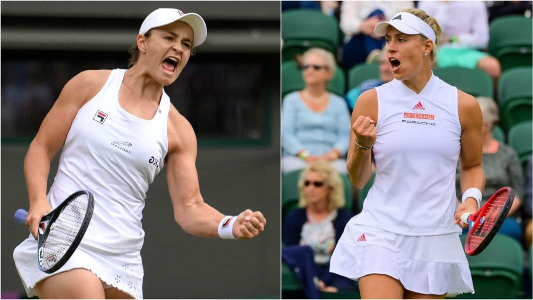 Ashleigh Barty vs Angelique Kerber will clash in the semi-finals of the Wimbledon 2021