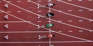 Athletics at Tokyo Olympics; women's 100m final