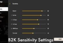 B2K Sensitivity Settings In Free Fire