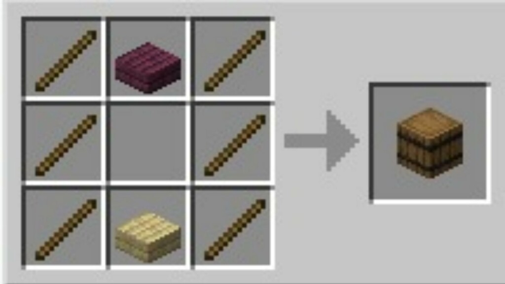 Barrel in Minecraft