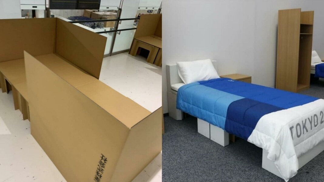 Beds in the athlete's village