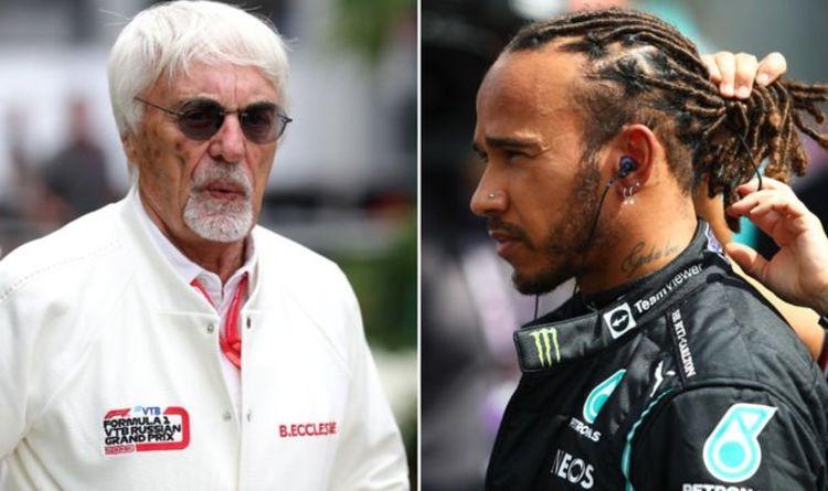 Bernie Ecclestone and Lewis Hamilton