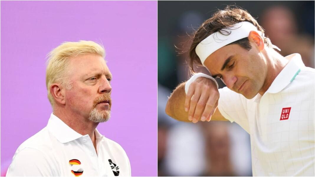 Boris Becker and Roger Federer