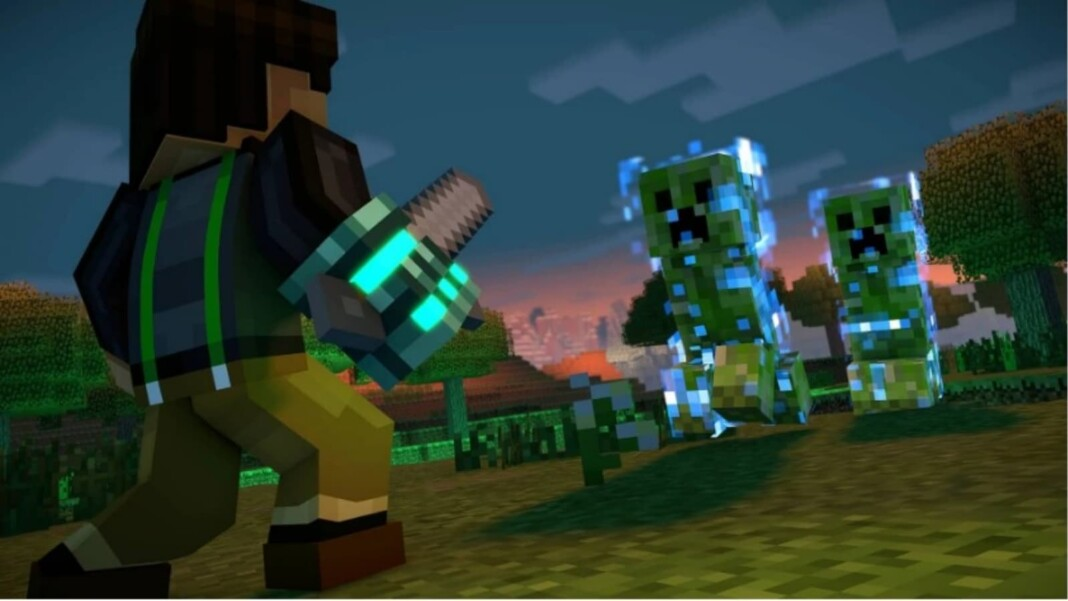 Charged Creeper in Minecraft