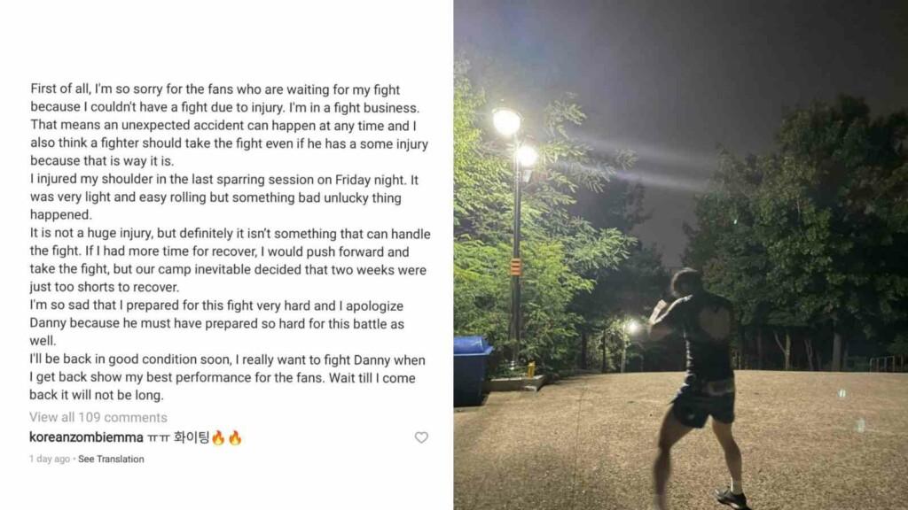 Choi's Instagram Post