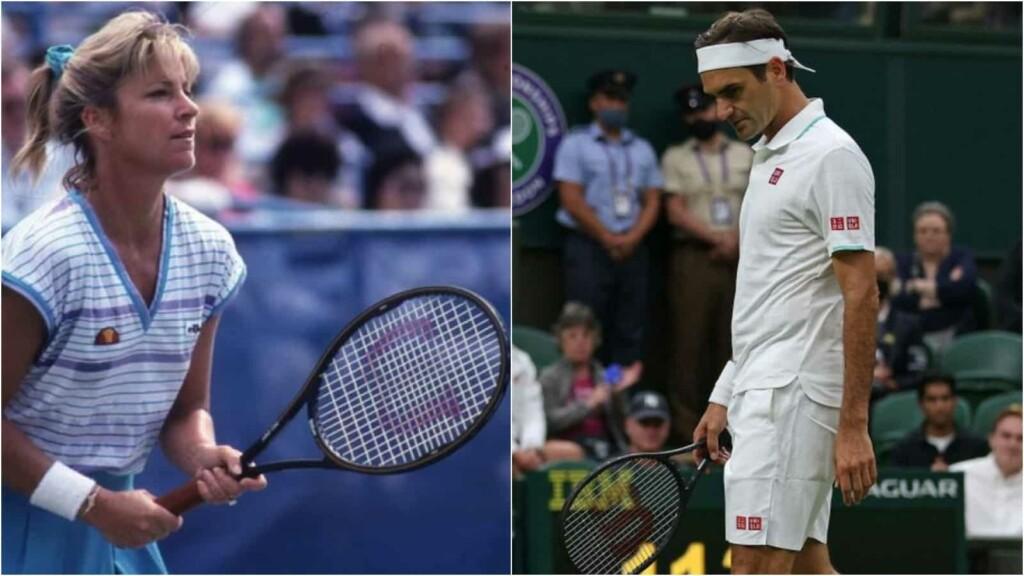 Chris Evert and Roger Federer