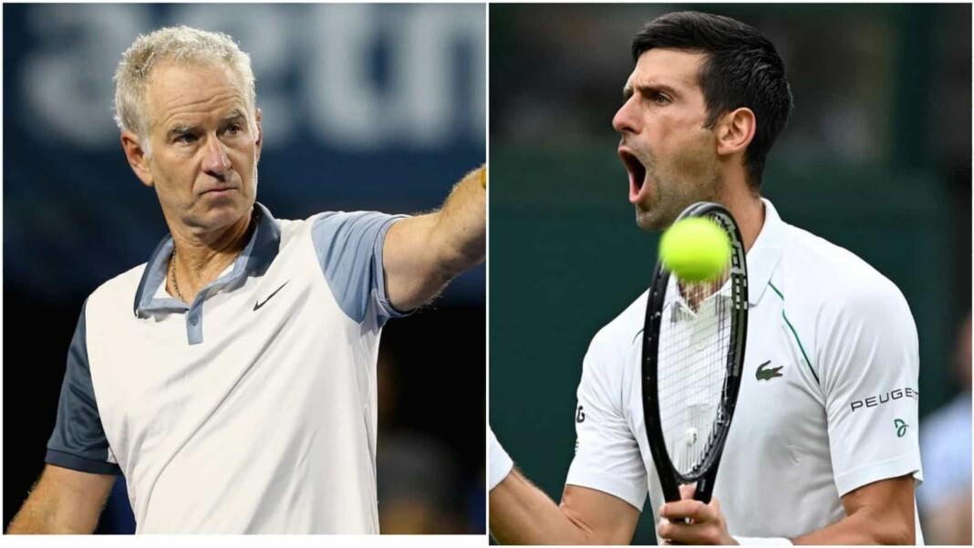 John McEnroe and Novak Djokovic