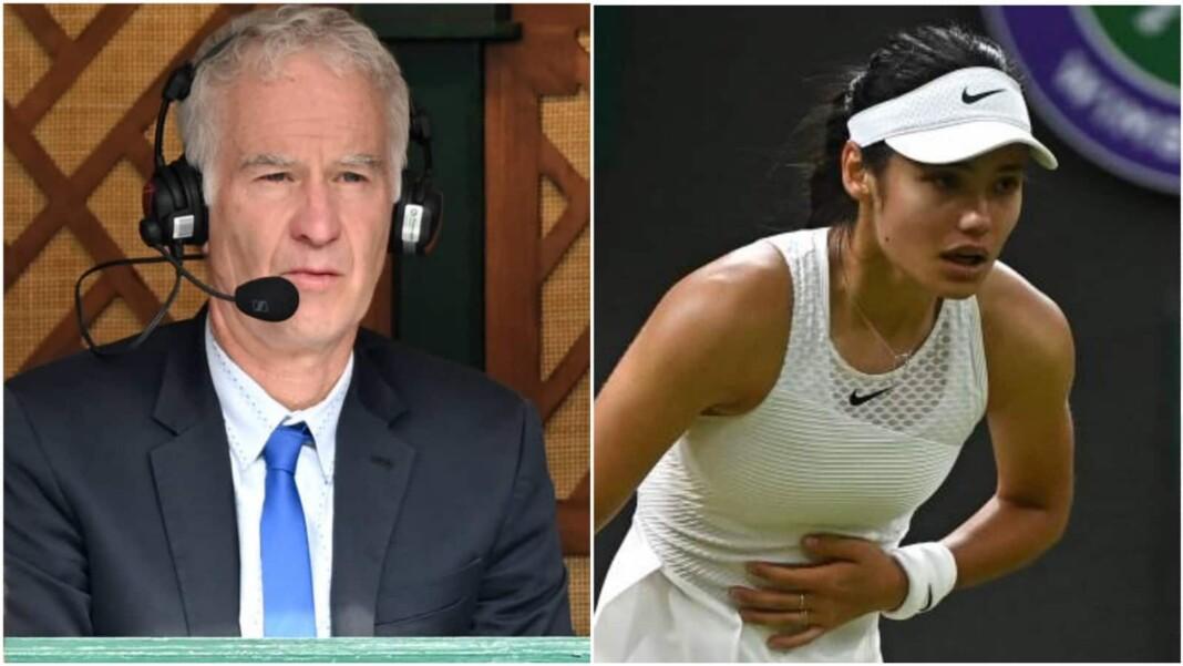 John McEnroe and Emma Raducanu