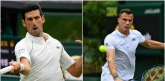 Novak Djokovic and Márton Fucsovics