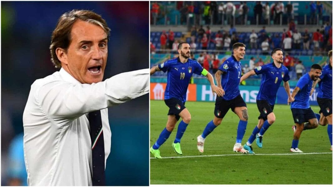 Roberto Mancini, Leonardo Bonucci, Giorgio Chiellini, Lorenzo Insigne