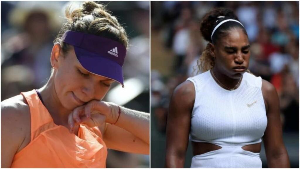 Simona Halep and Serena Williams