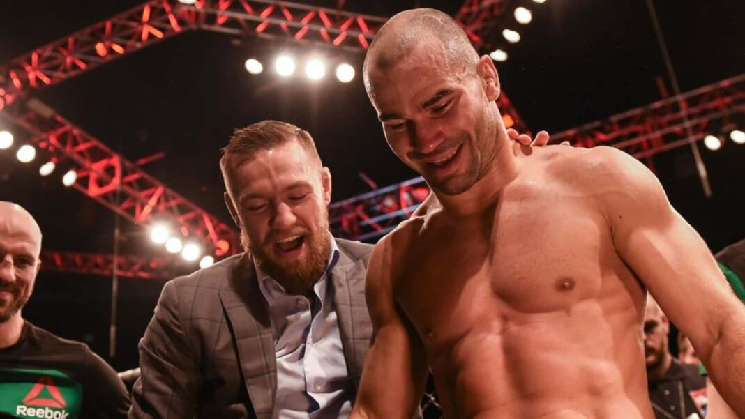 Conor McGregor with Artem Lobov