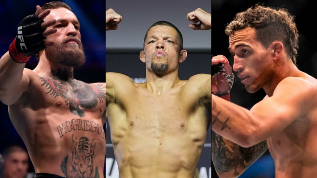Conor McGregor, Nate Diaz and Charles Oliveira