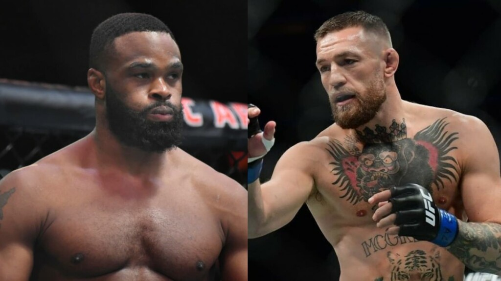 Conor McGregor and Tyron Woodley