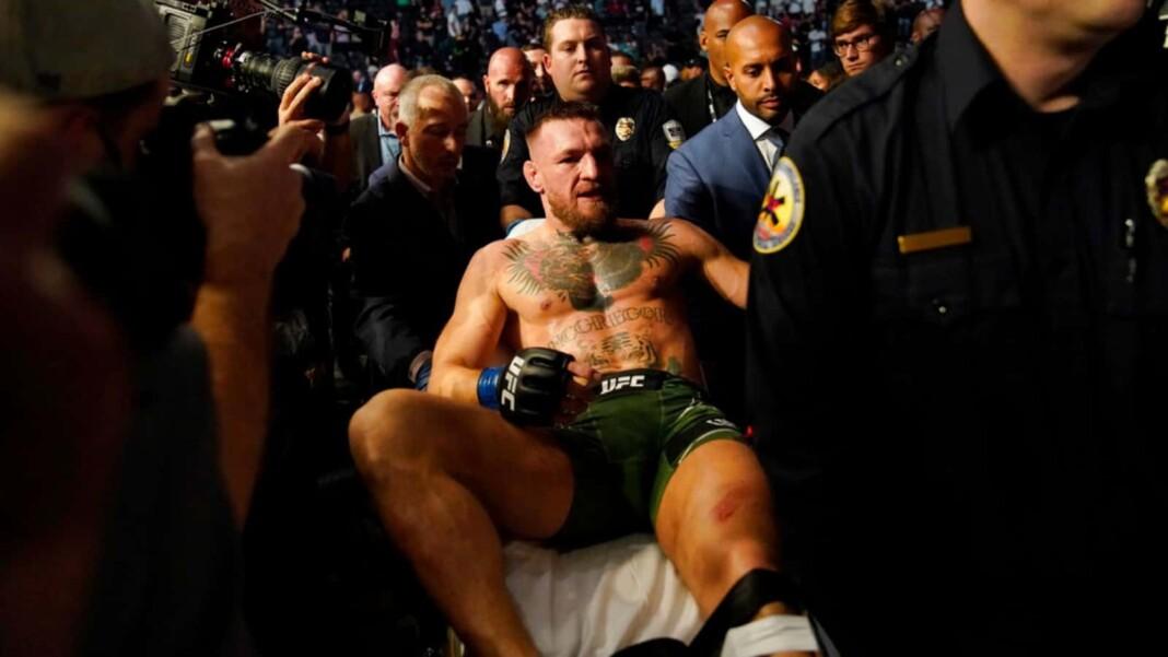 Conor McGregor on his leg injury