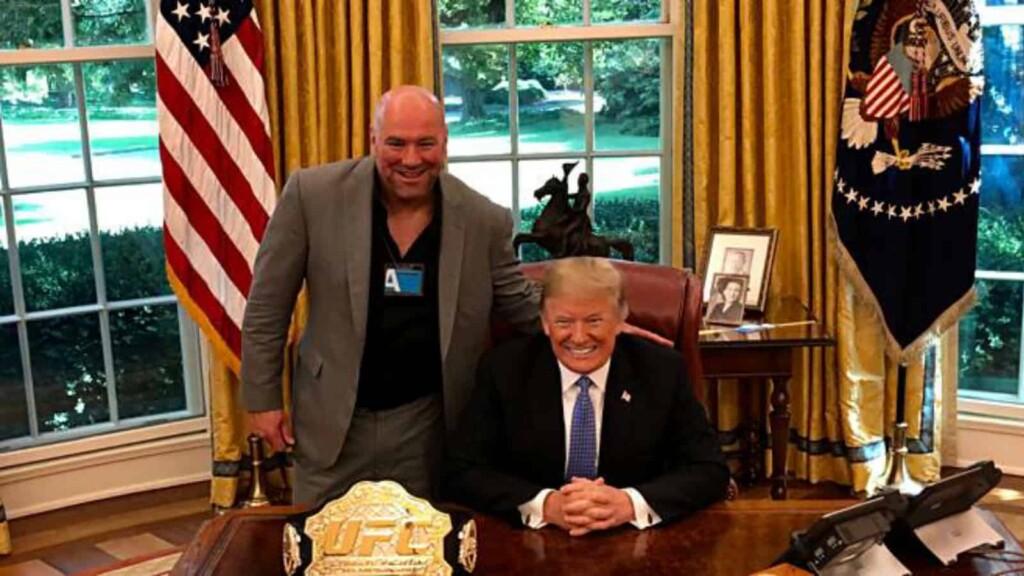 Dana White and Donald Trump