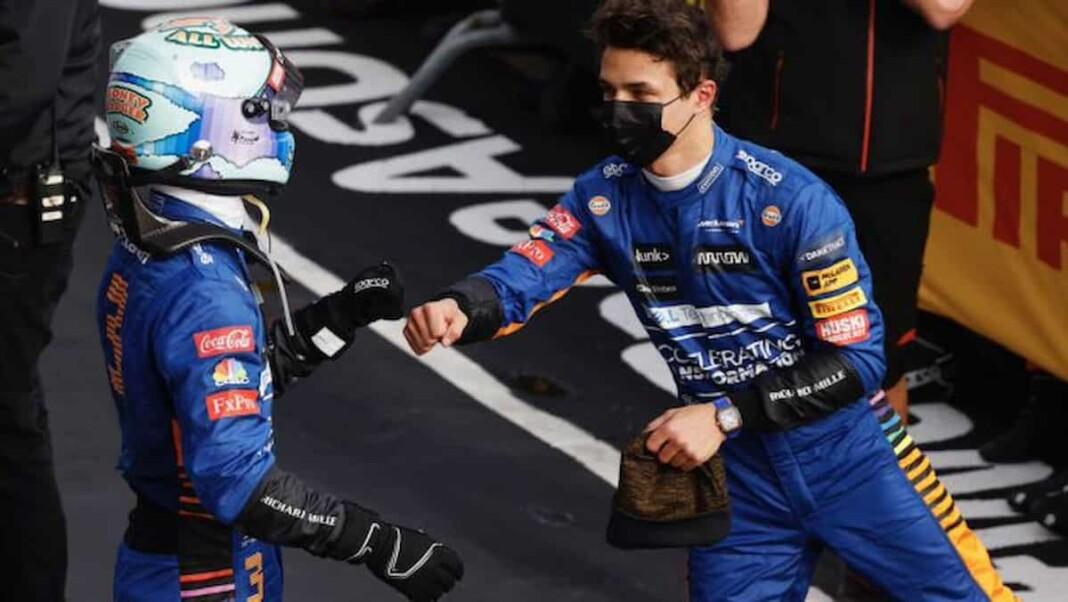 Daniel Ricciardo on Lando Norris