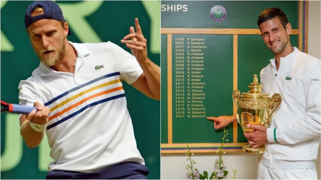 Denis Kudla and Novak Djokovic