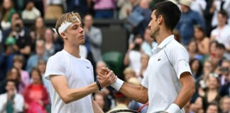 Denis Shapovalov and Novak Djokovic