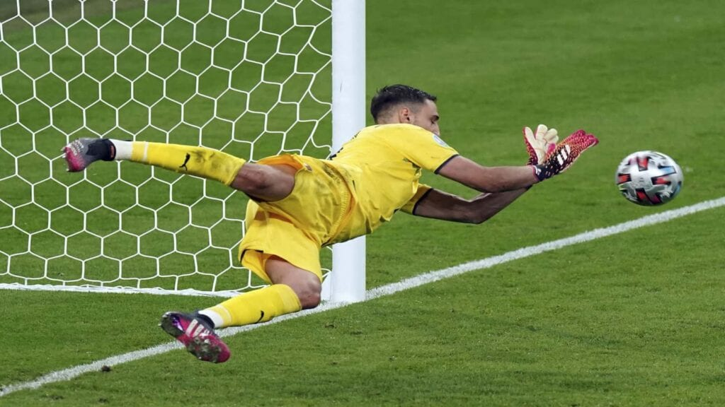 Donnarumma was Italy's hero in the semi-finals and the finals