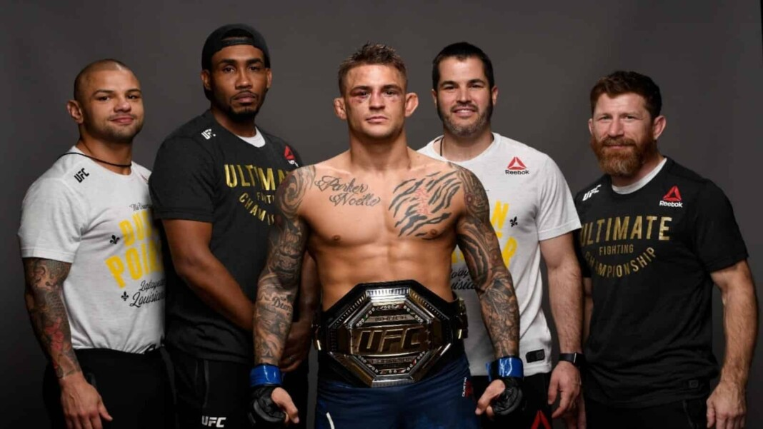 Dustin Poirier and Mike Brown