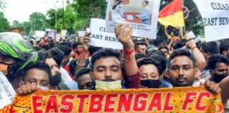 East Bengal protest