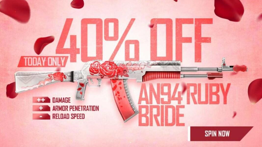 Free Fire AN94 Ruby Bride