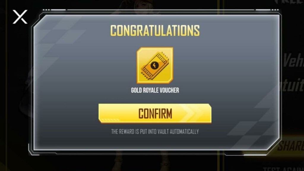 Free Fire Ace Vehicle Quiz