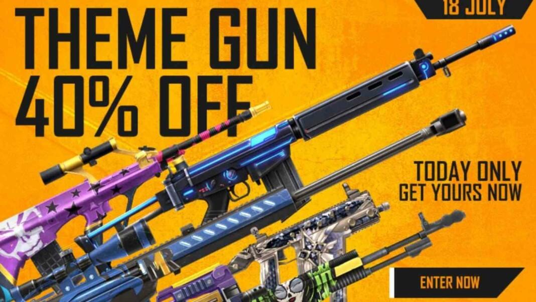 Free Fire Theme Gun Sale