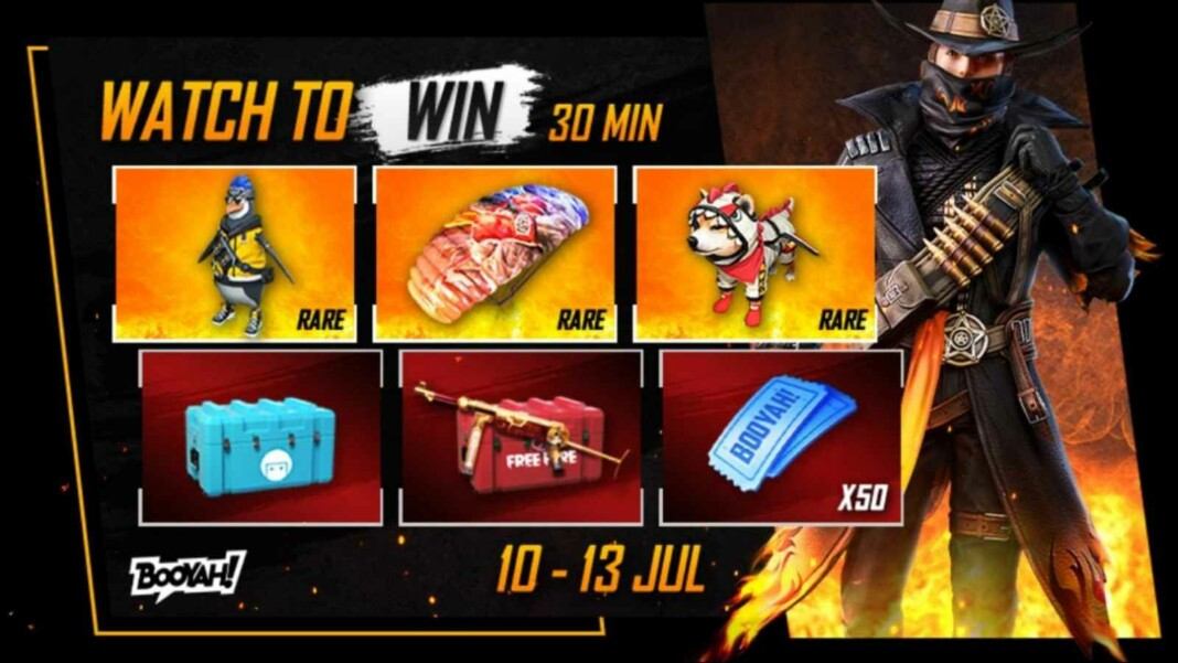 Free Fire Watch to Win Event