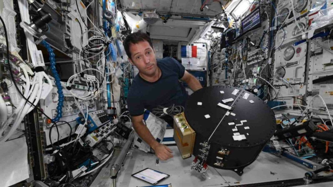 French astronaut Thomas Pesquet at the International Space Station