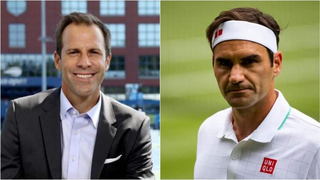 Greg Rusedski and Roger Federer