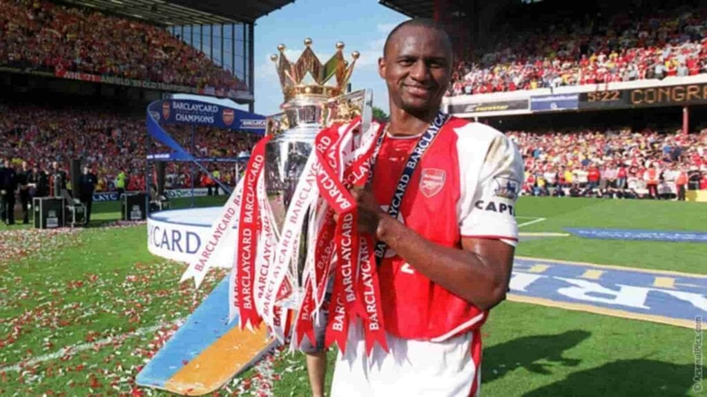 He won the Premier League 3 times with Arsenal