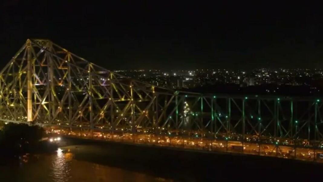 Howrah Bridge lit up in Olympic colors ahead of Tokyo Olympics