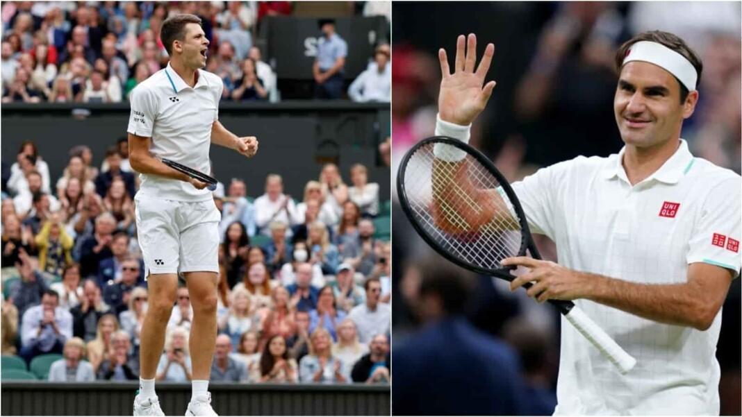 Hubert Hurkacz and Roger Federer